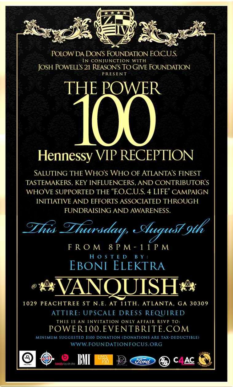 Power 100 Invitation