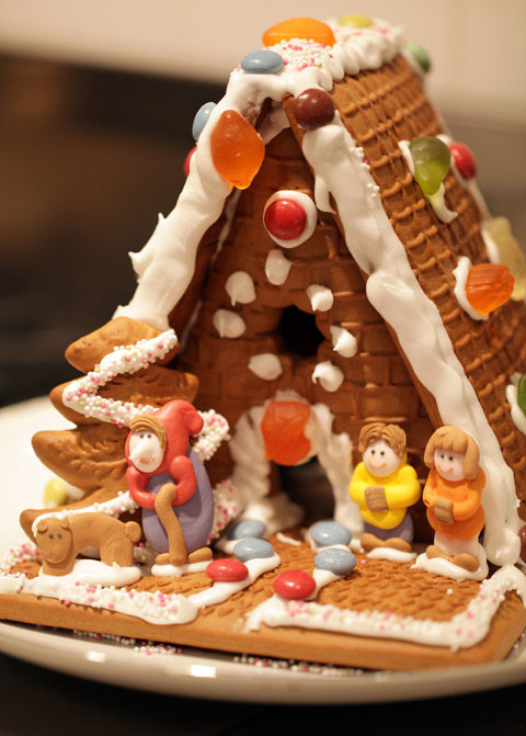 Our Trade Joe brand Gingerbread House Kit!