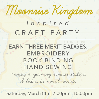 Moonrise Kingdom Craft Party