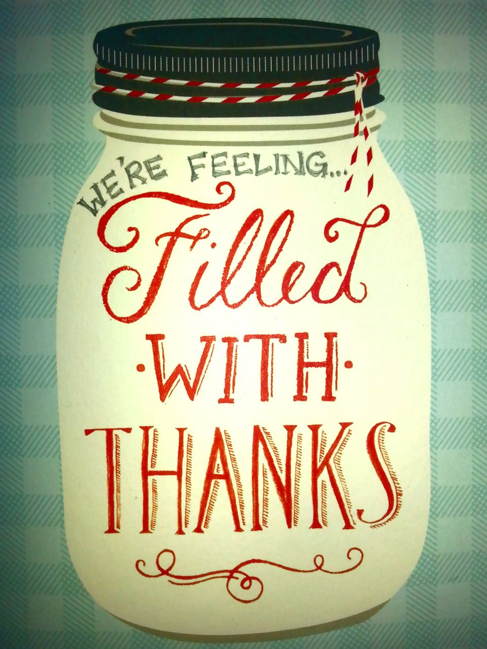 Filled with Thanks