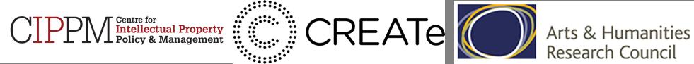 CIPPM, Create, AHRC logos