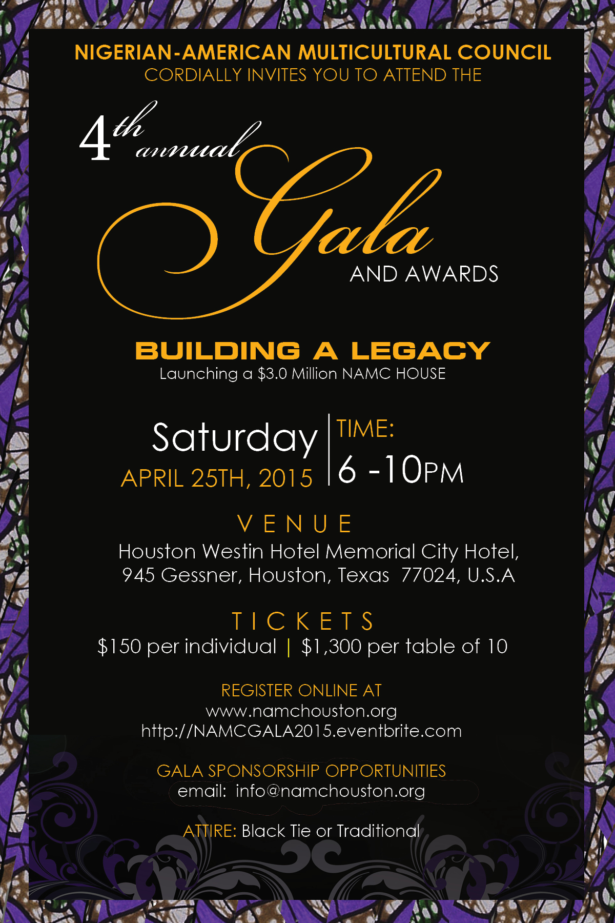 2015 NAMC Gala