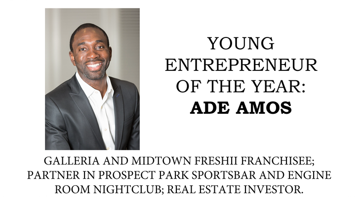 Ade Amos - Young Entrepreneur of the Year