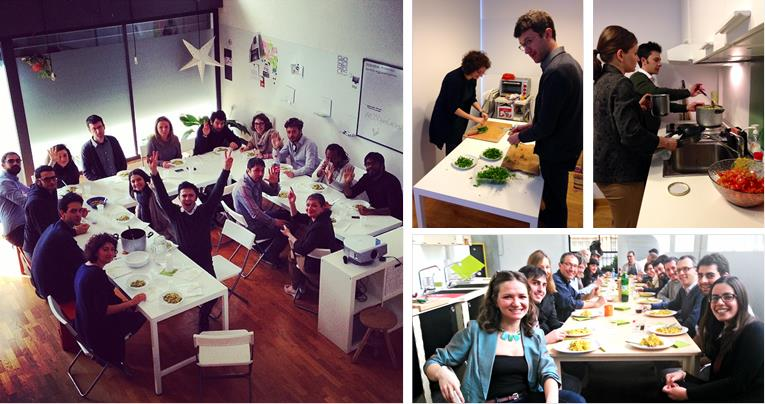 A few cooking sessions from our previous workshops