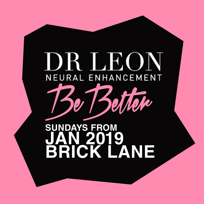 Dr Leon logo be better wellness pink brick lane pink