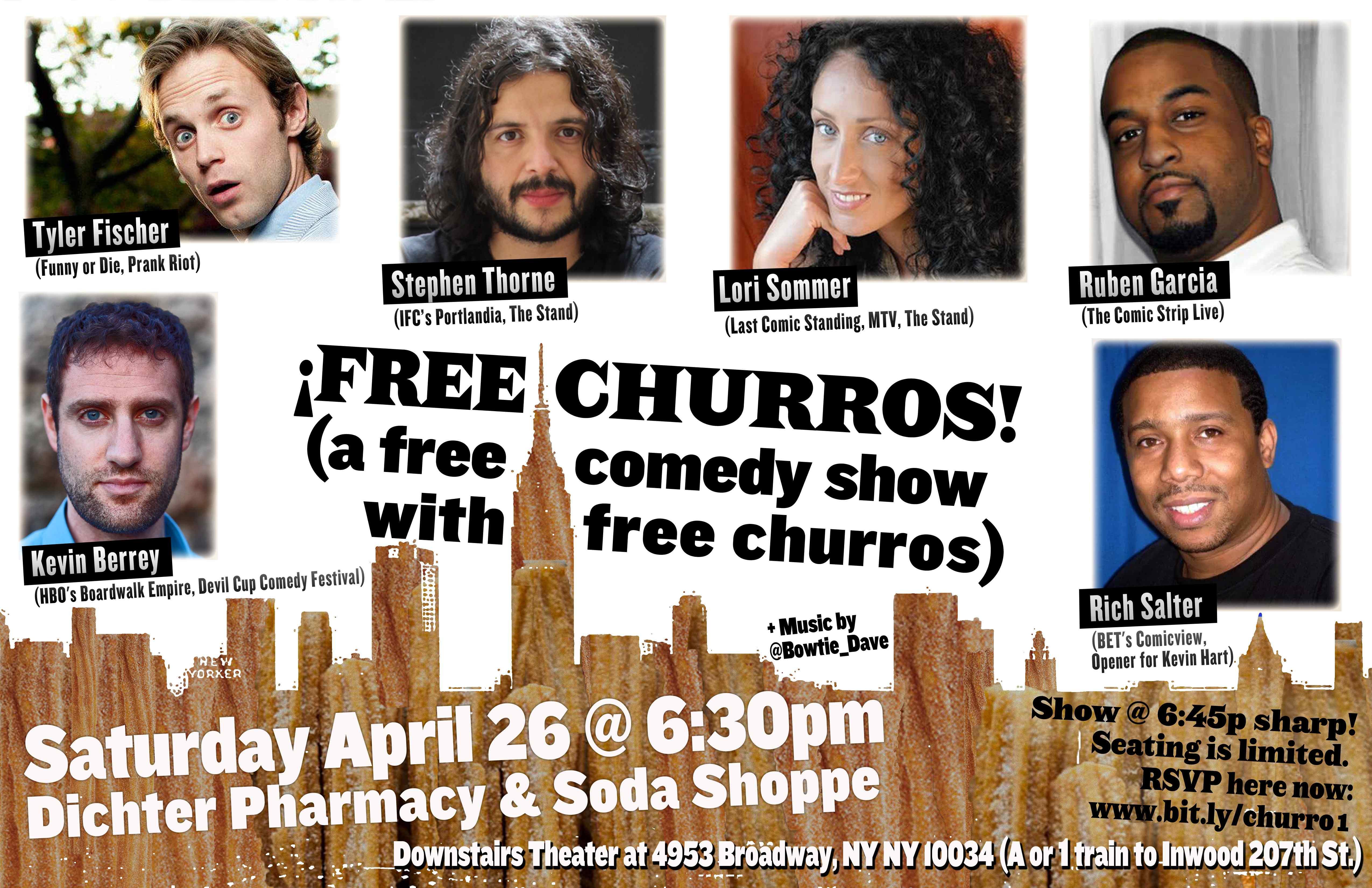 Free Churros Apr-26 Poster