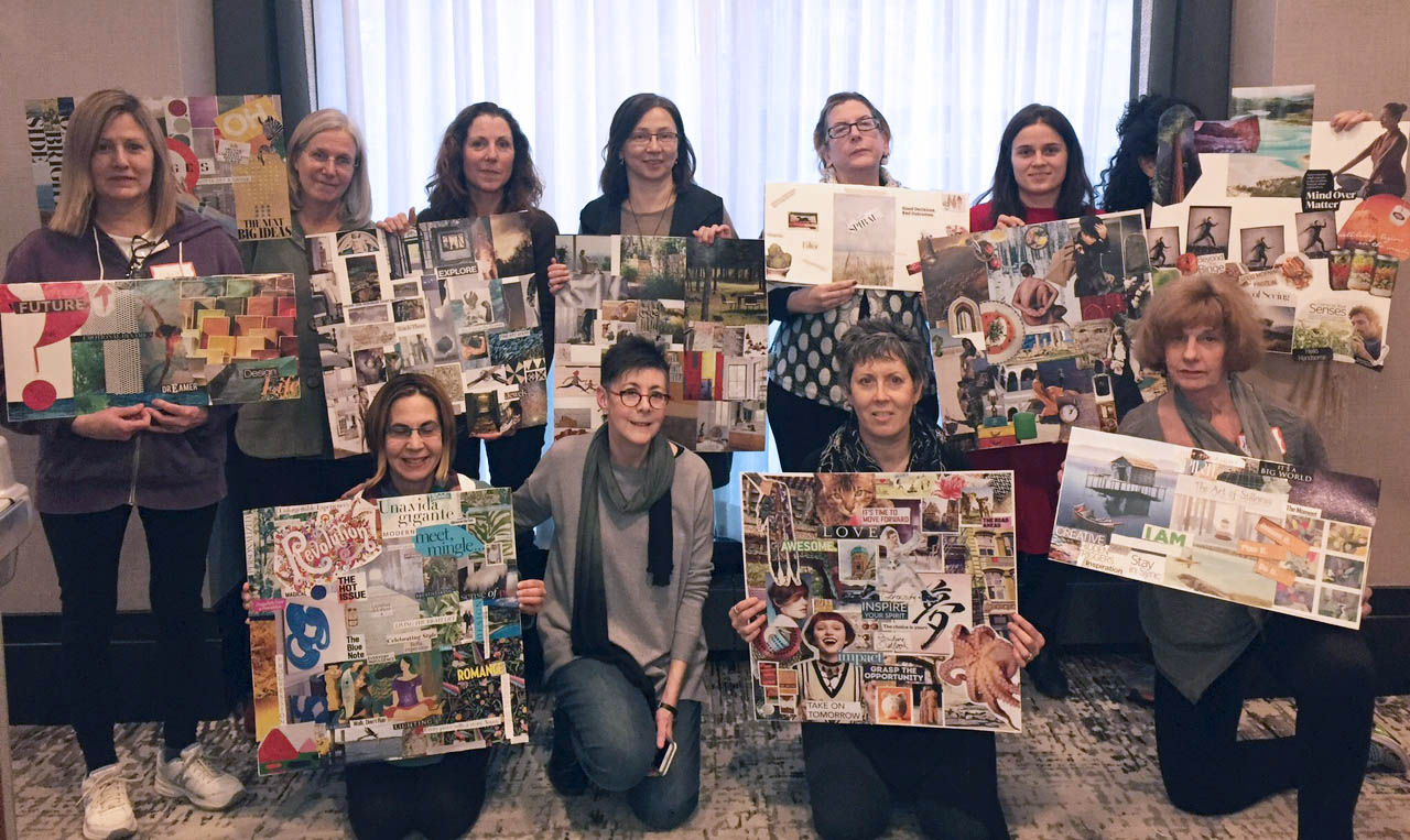 Attendees of the last workshop, with their Vision Boards