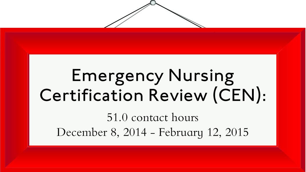 emergency nurse certification ce dec agenda intensive series cen faqs speakers register