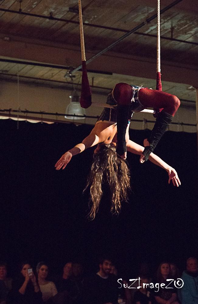 Asia Laviolette on trapeze