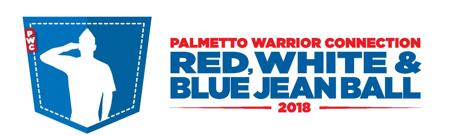Red, White & Blue Jean Ball logo