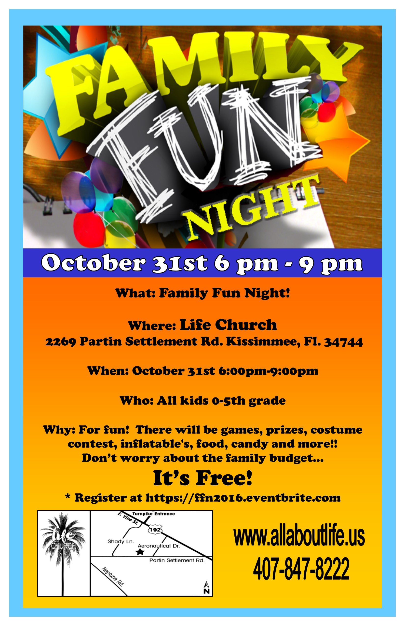 Family Fun Night Registration Mon Oct 31 2016 At 600 PM