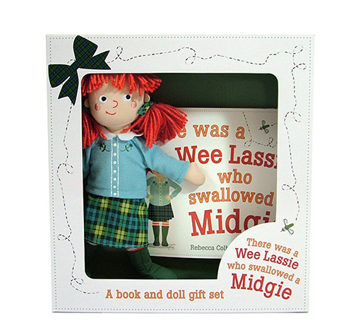 Wee Lassie book and doll gift set