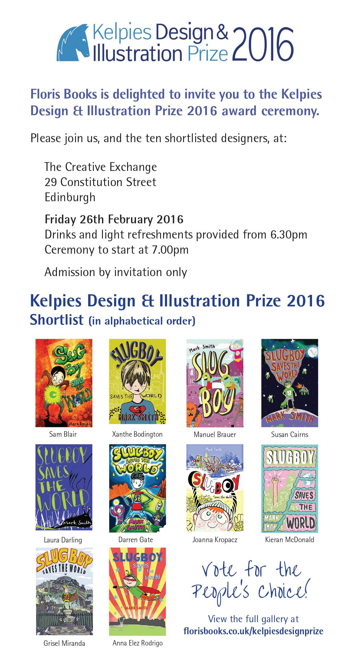 Kelpies Design and Illustration Prize 2016