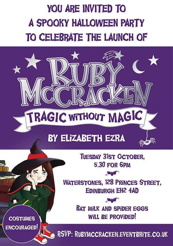 Ruby McCracken Launch Invitation