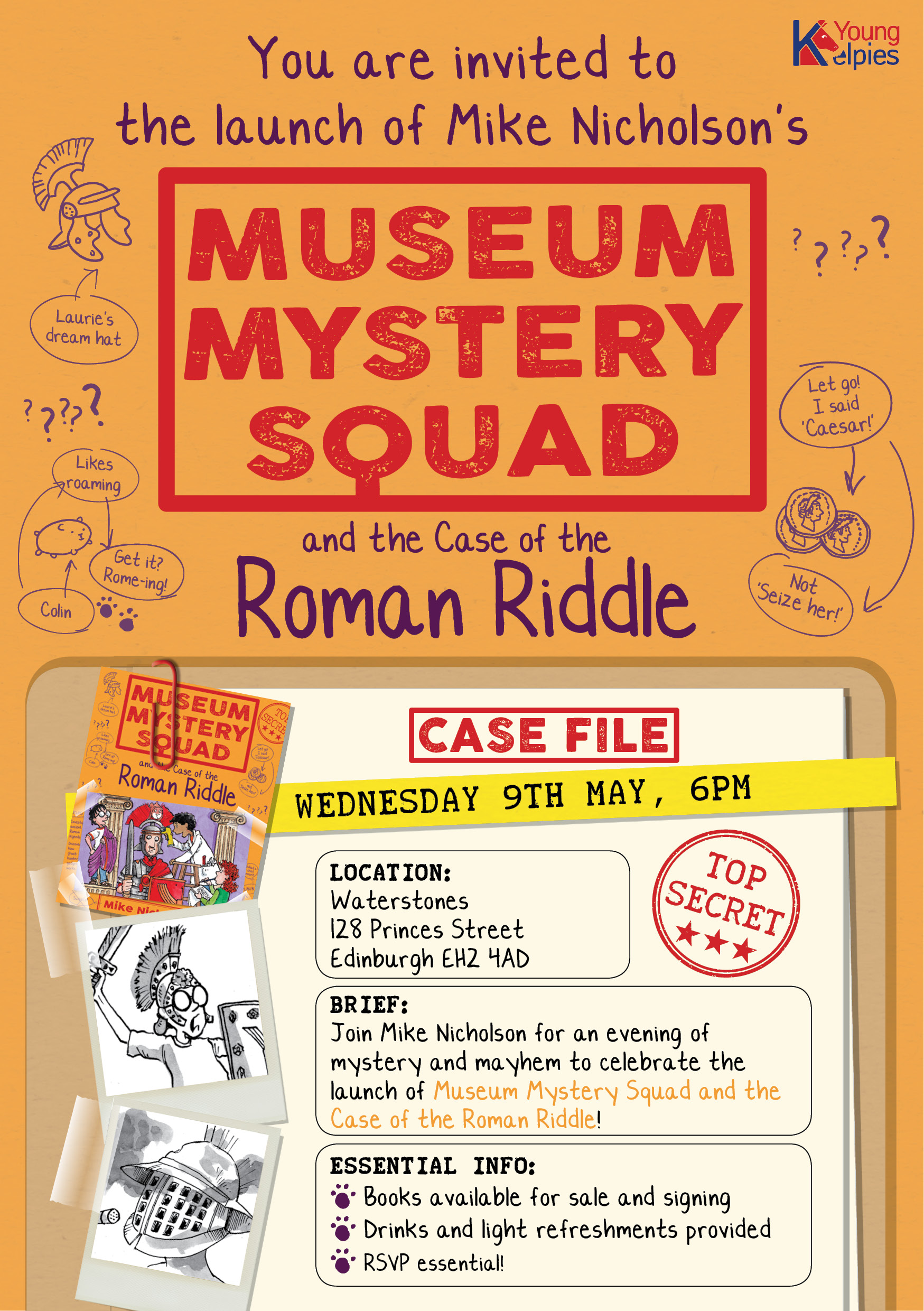 Museum Mystery Squad launch invite