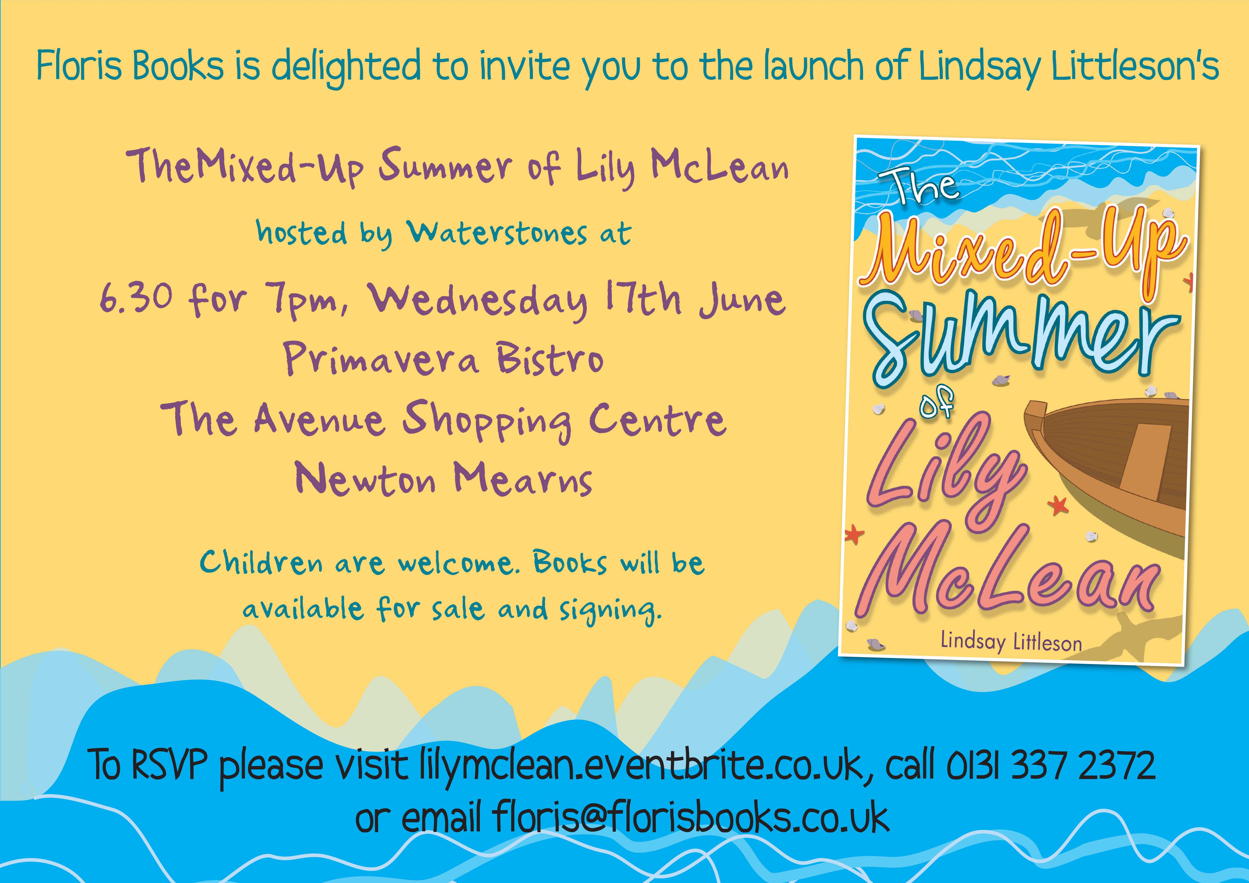 The Mixed-Up Summer of Lily McLean launch invite