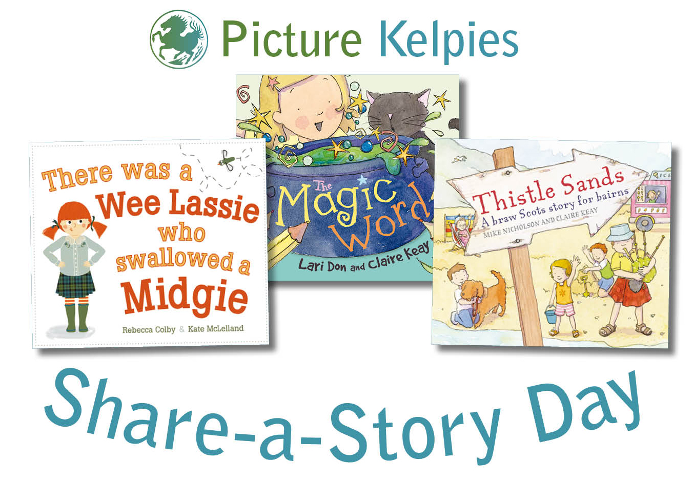 Picture Kelpies Share-a-Story Day logo