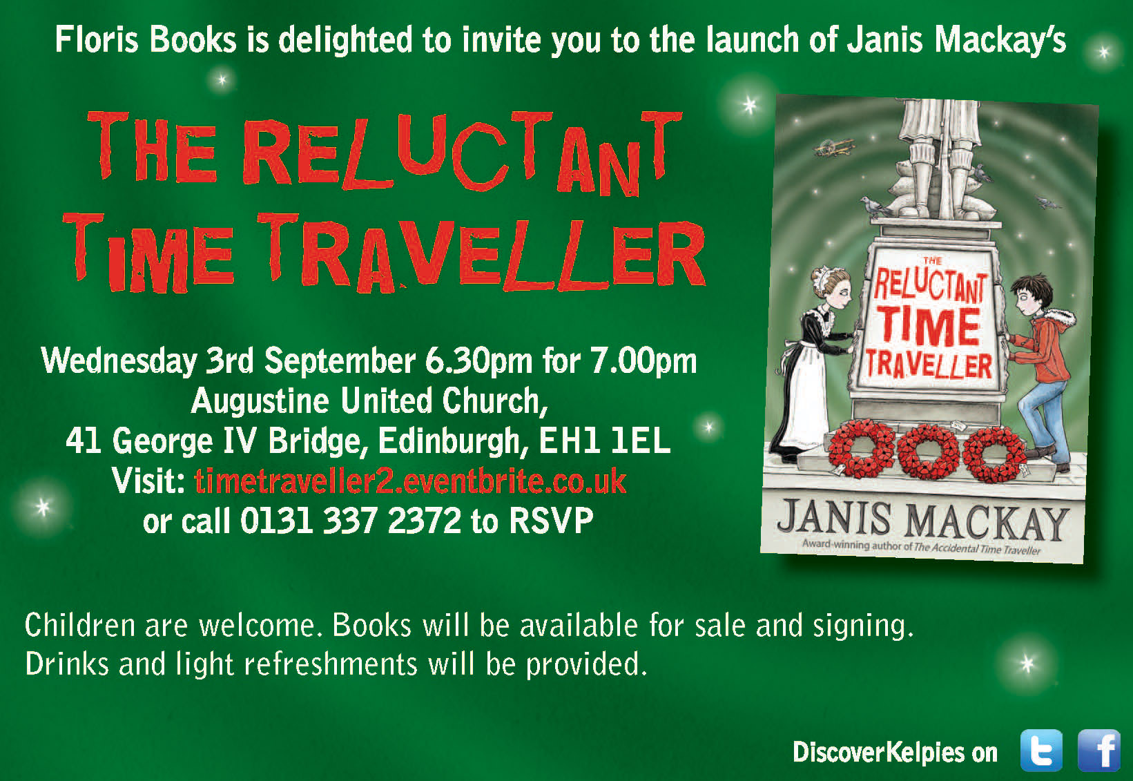 The Reluctant Time Traveller Launch Invitation