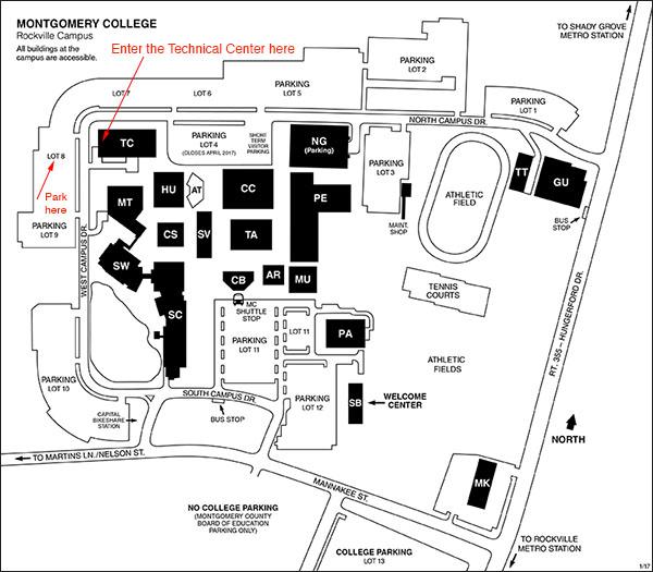 Rockville MD Campus Map