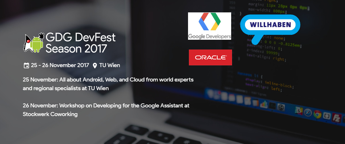 DevFest Vienna website preview