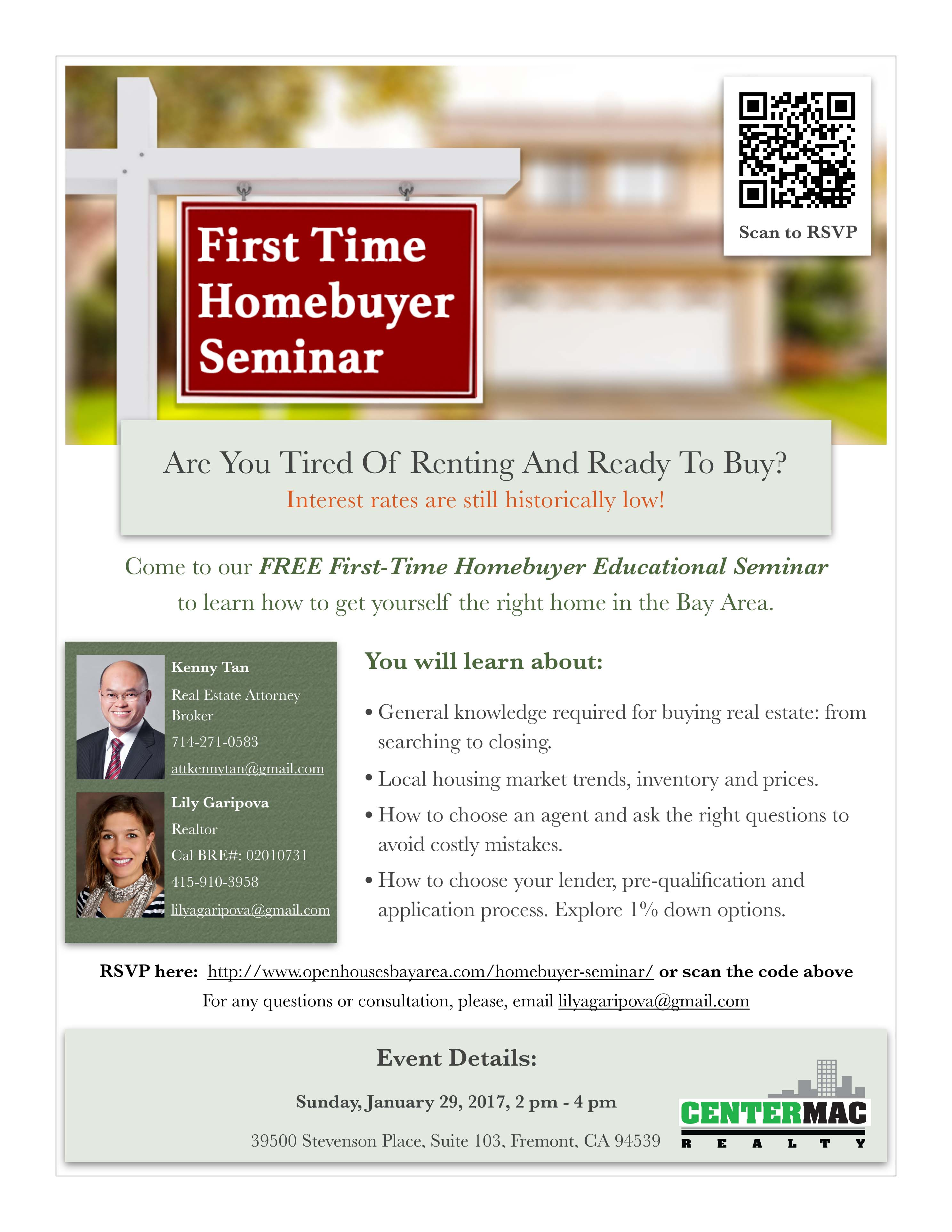 Fremont: First-Time Homebuyer Seminar Tickets, Sun, Jan 29, 2017 ...