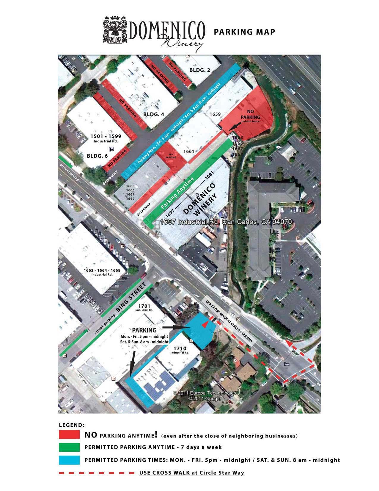 Domenico Parking Map