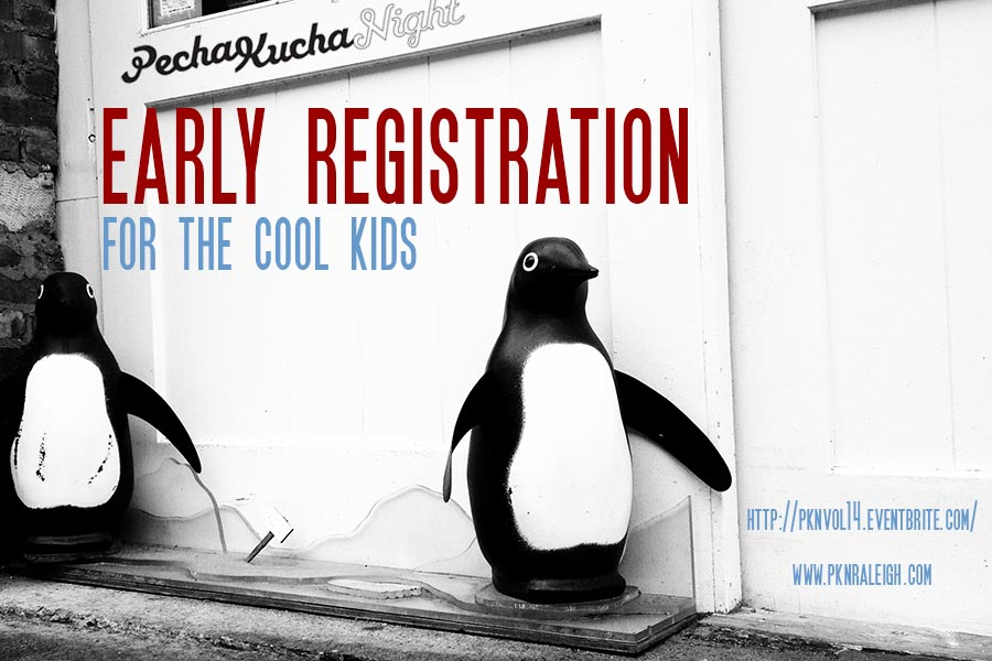 Picture of PKN early registration with cute penguins