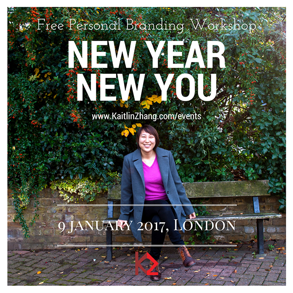 New Year New You Kaitlin Zhang Personal Branding Workshop O2 Think Big Hub