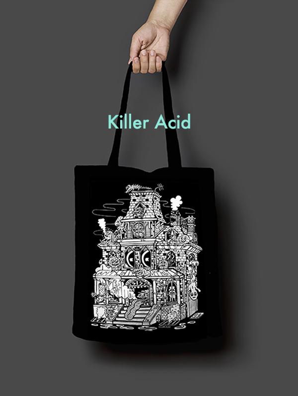 Killer Acid Tote Bag Design