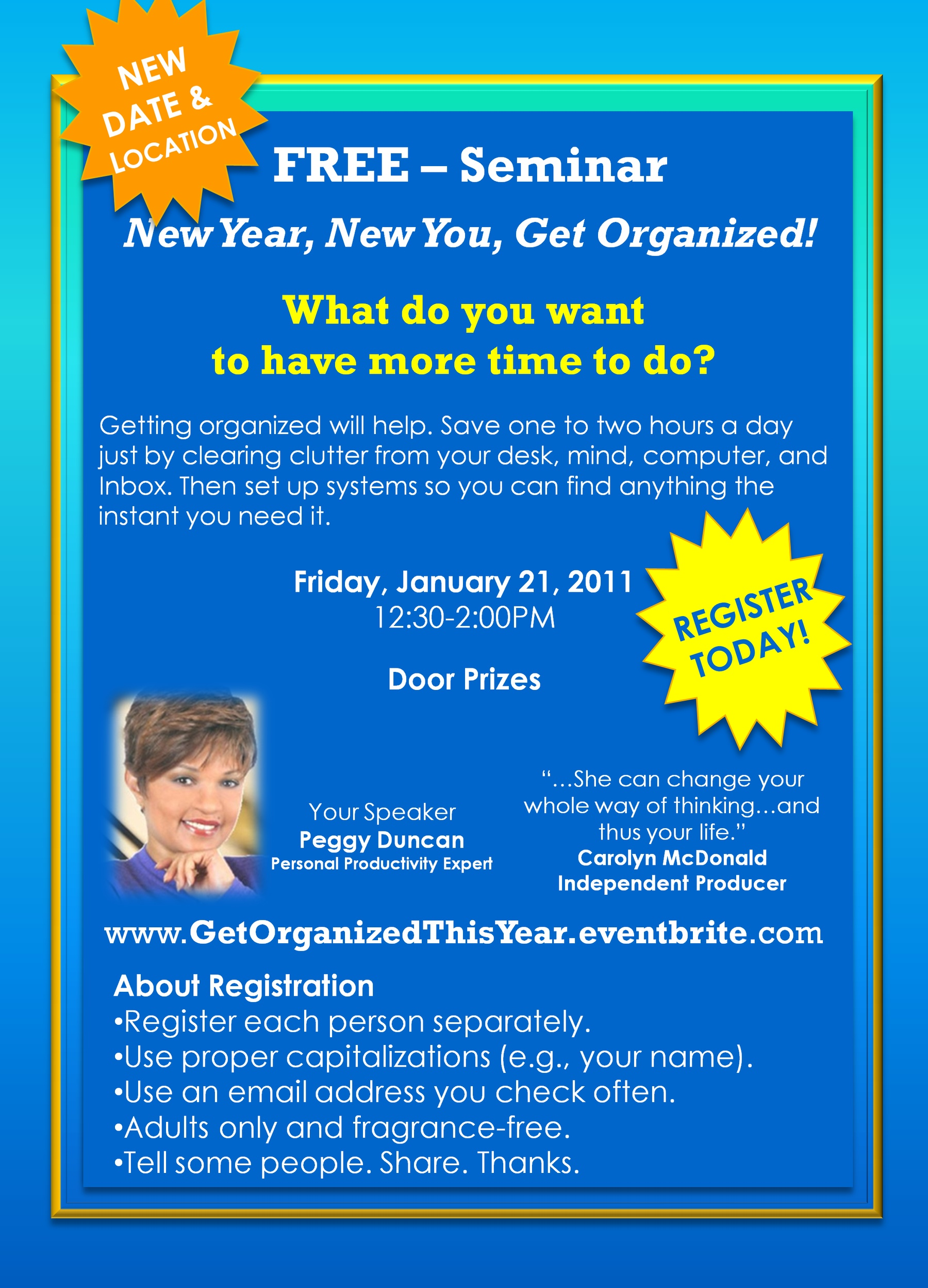 Get Organized for the New Year with Peggy Duncan