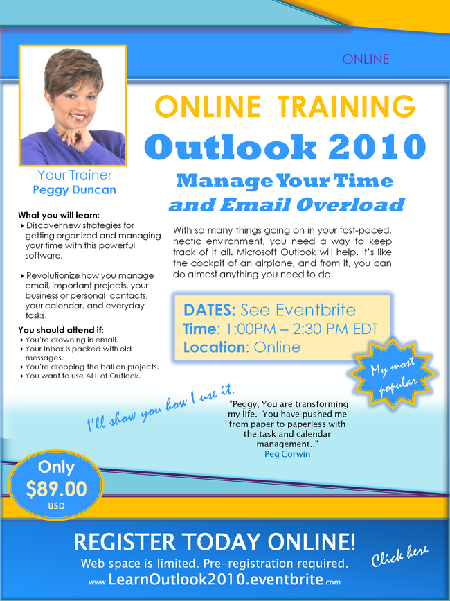 Learn Outlook 2010 and manage your time with it