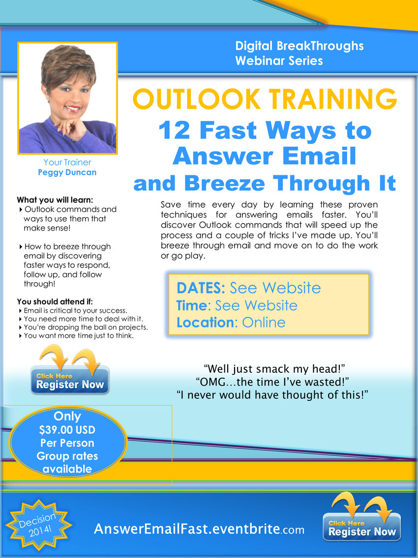 Outlook Webinar - 12 Fast Ways to Answer