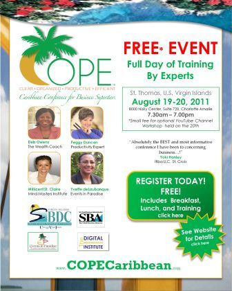 COPE Caribbean Conference for Business Superstars US Virgin islands St. Thomas