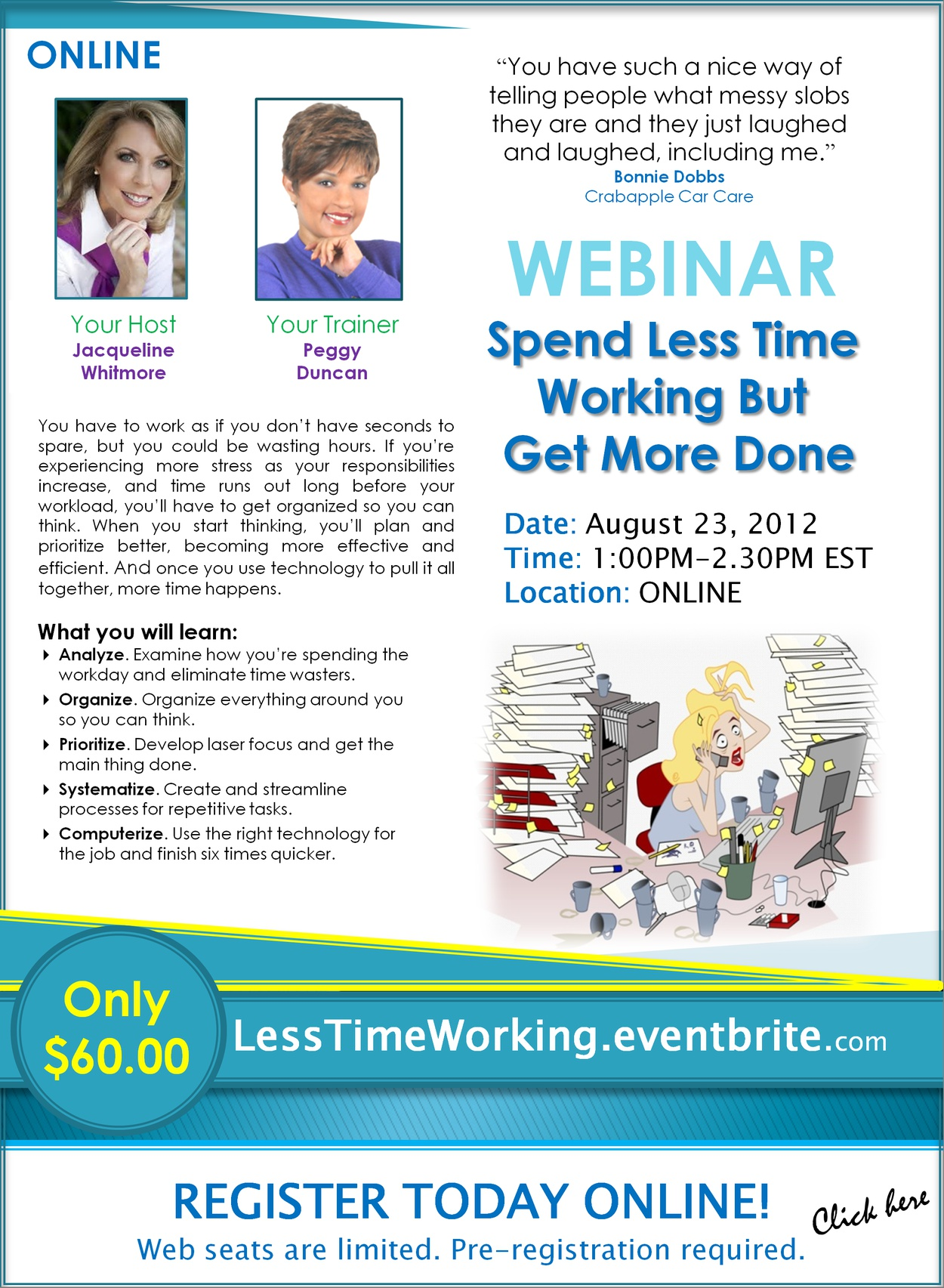 Webinar: Spend Less Time Working but Get More Done