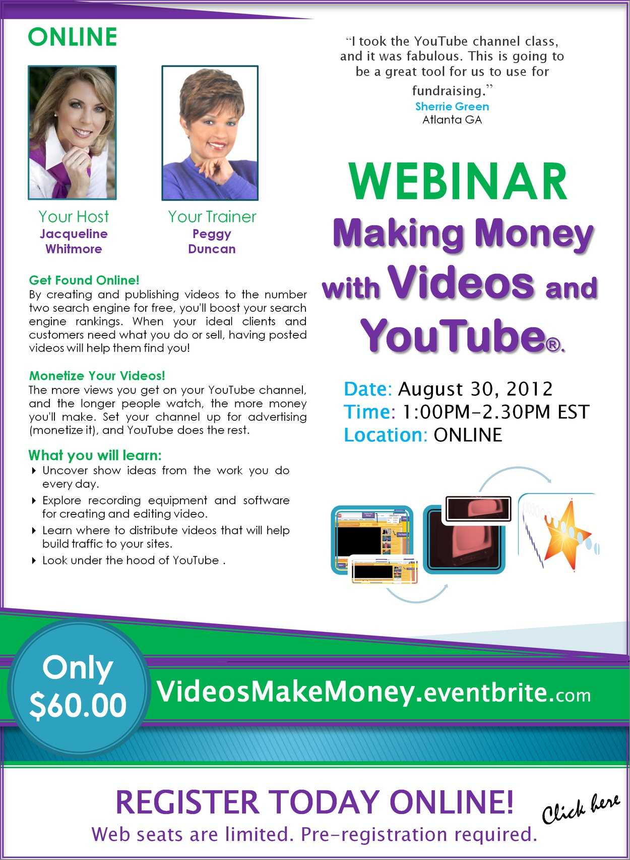Webinar: Videos and YouTube Make Money