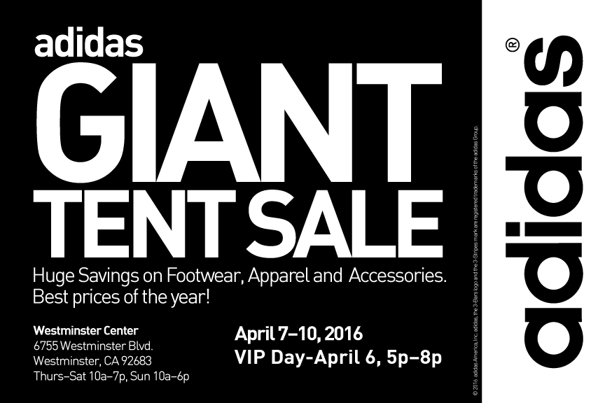 adidas giant tent sale california