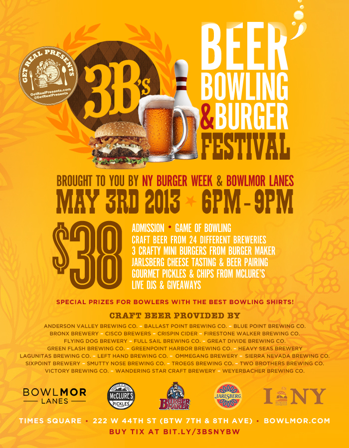 3bs Get Real Presents Beer Bowling Burger Festival