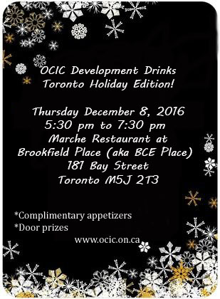 OCIC Development Drinks Toronto Holiday Edition