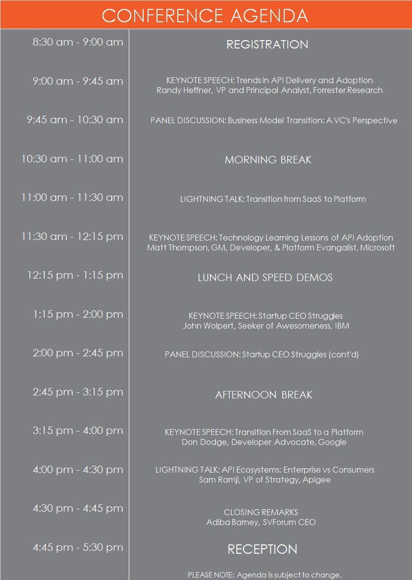 SVForum AtoP Agenda