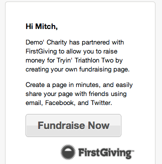 FirstGiving screenshot