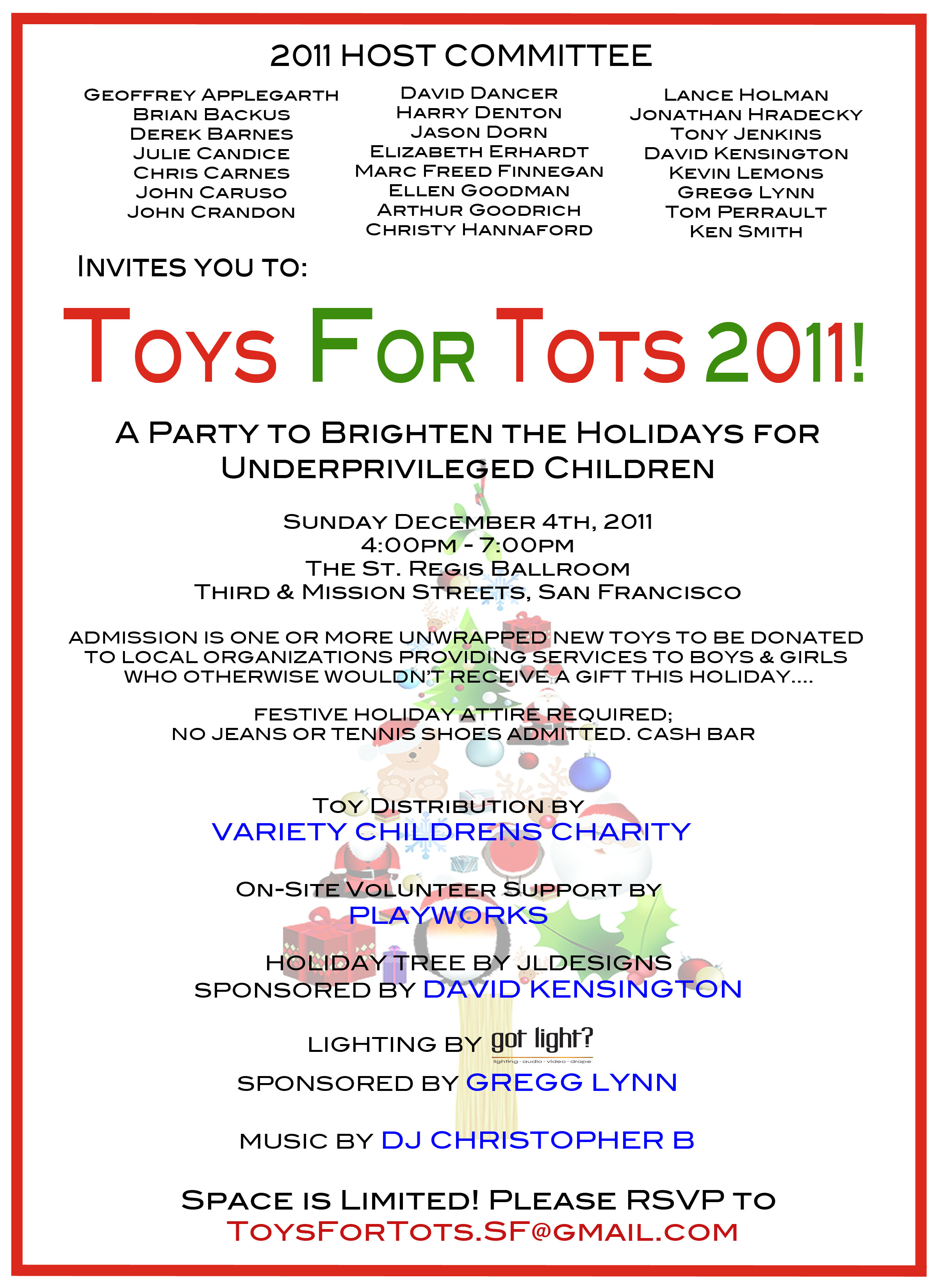 Toys For Tots Flier