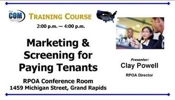 Marketing and Screening for Good Tenants