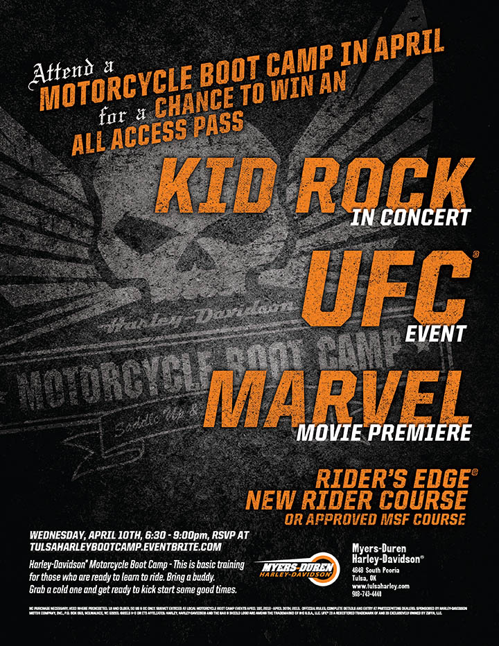 Motorcycle Boot Camp Flier