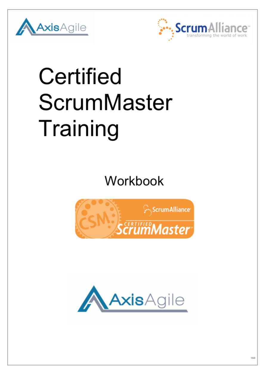 AxisAgile Course Workbooks