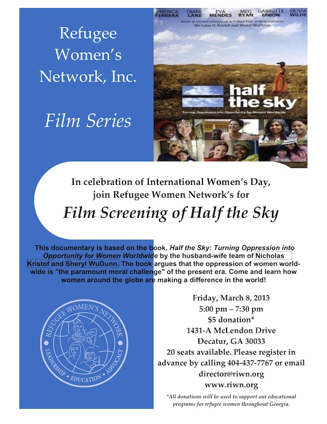 Half the Sky Screening Flyer
