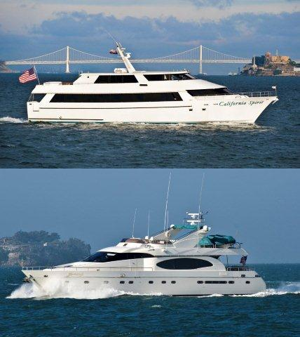 Custom-built luxury motor yachts, the 100' California Spirit and 80' Yacht Lady