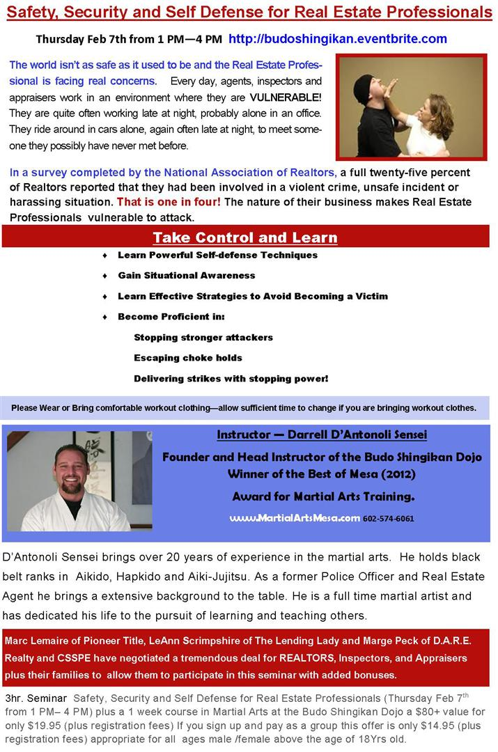 Safety Security & Self Defense for REALTORS