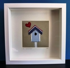 Freehand Embroidery lovebox frame