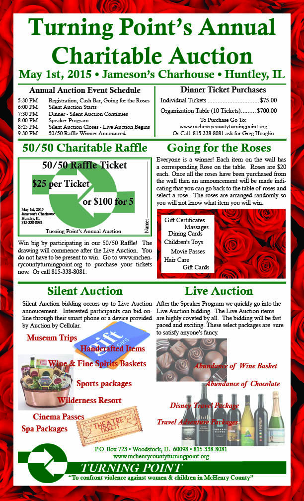 Turning Point Annual Auction Flyer
