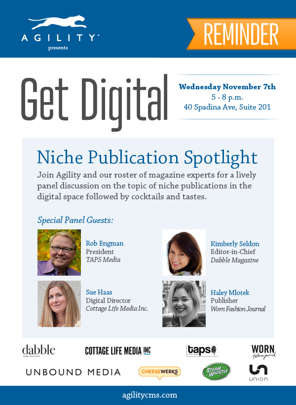 Get Digital 2 - Niche Publication Spotlight - Reminder